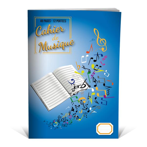 48 pages Cahier de musique avec port/ées grand format A4