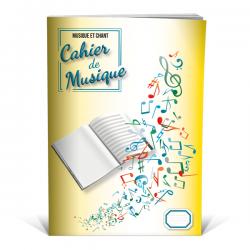 Cahier musique et chant - 48 pages format A4